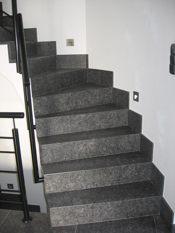 Bury natuursteen trappen for Looplijn trap
